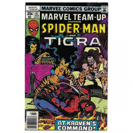 """Comics Marvel #67 03/1978 """"Marvel Team-Up ft Spiderman - Tigra"""""""
