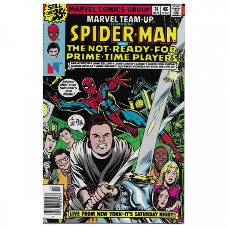 """Comics Marvel #74 10/1978 """"Marvel Team-Up ft Spiderman - The Not Ready For Prime Time Players"""""""