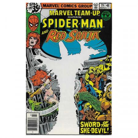 """Comics Marvel #79 03/1979 """"Marvel Team-Up ft Spiderman - Red Sonja"""""""