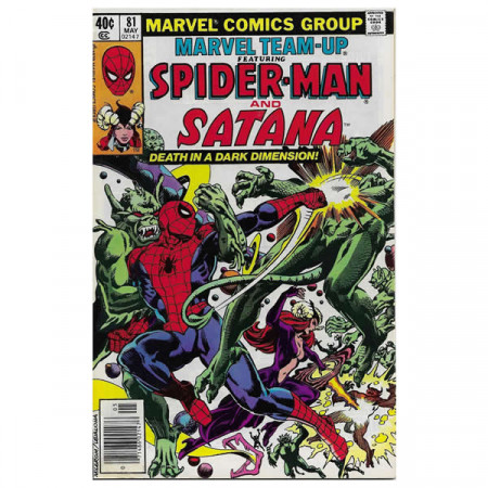 """Comics Marvel #81 05/1979 """"Marvel Team-Up ft Spiderman - Satana"""""""