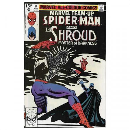 """Comics Marvel #94 06/1980 """"Marvel Team-Up Spiderman - The Shroud"""""""