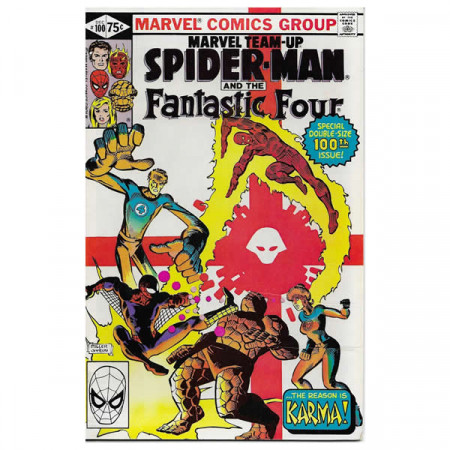 """Comics Marvel #100 12/1980 """"Marvel Team-Up Spiderman - Fantastic Four"""""""