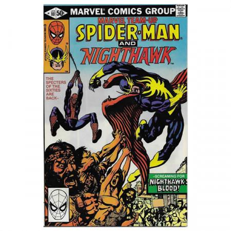 """Comics Marvel #101 01/1981 """"Marvel Team-Up Spiderman - Nighthawk"""""""