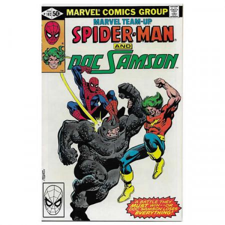 """Comics Marvel #102 02/1981 """"Marvel Team-Up Spiderman - Doc Samson"""""""
