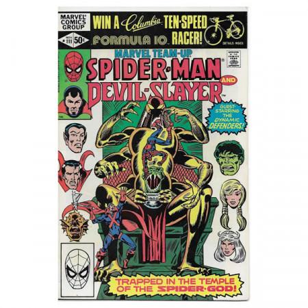 "Comics Marvel #111 11/1981 ""Marvel Team-Up Spiderman - Devil-Slayer"""