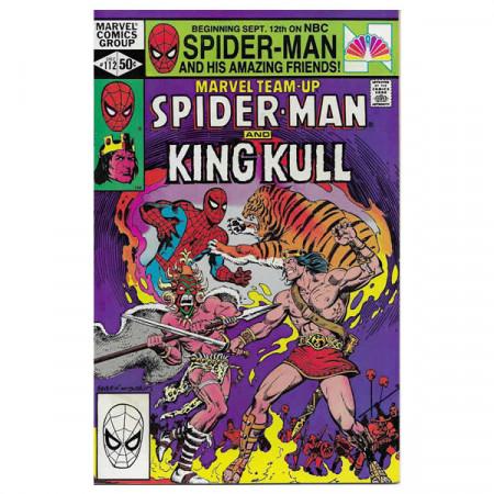 """Comics Marvel #112 12/1981 """"Marvel Team-Up Spiderman - King Kull"""""""