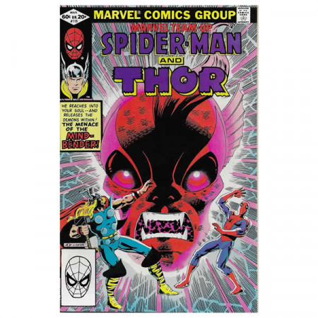 """Comics Marvel #115 03/1982 """"Marvel Team-Up Spiderman - Thor"""""""
