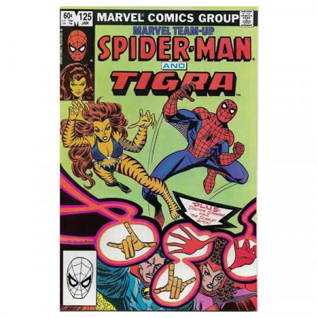 """Comics Marvel #125 01/1983 """"Marvel Team-Up Spiderman - Tigra"""""""