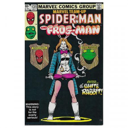"""Comics Marvel #131 07/1983 """"Marvel Team-Up Spiderman - Frogman"""""""