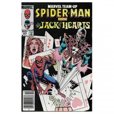 """Comics Marvel #134 10/1983 """"Marvel Team-Up Spiderman - Jack of Hearts"""""""
