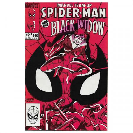 """Comics Marvel #140 04/1984 """"Marvel Team-Up Spiderman - Black Widow"""""""