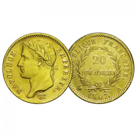 "1807 A * 20 Francs Napoleon Gold France ""First Empire - Napoleon"" (KM 687.1) aXF/XF"