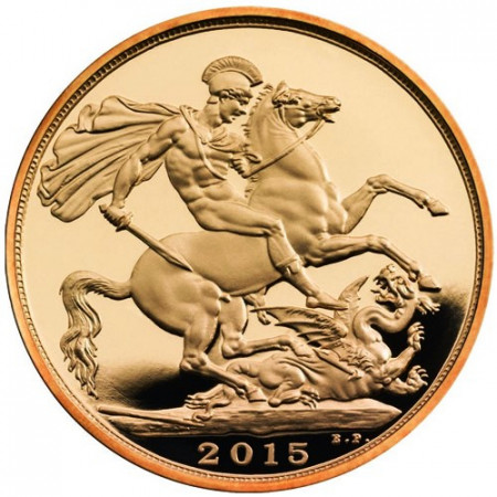 "2015 * Gold Sovereign Great Britain ""St. George and Dragon"""