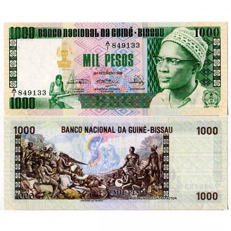 1978 * Banknote Guinea-Bissau 1000 Pesos (p8b) UNC