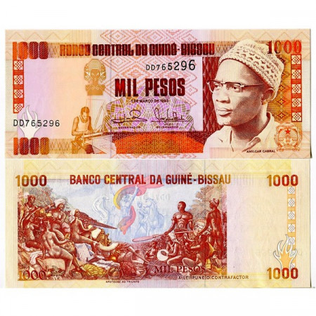 1993 * Banknote Guinea-Bissau 1000 Pesos (p13b) UNC