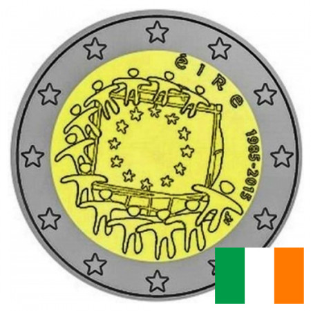 "2015 * 2 Euro IRELAND ""30th Anniversary of the Flag of Europe"""