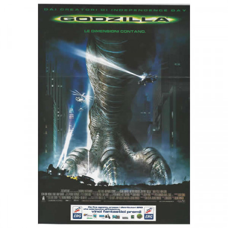 """1998 * Movie Playbill """"Godzilla - Roland Emmerich"""" Monster Movie"""