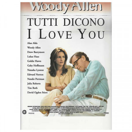 "1996 * Movie Playbill ""Everyone Says I Love You - Woody Allen"" Comedy"