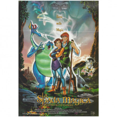 "1998 * Movie Playbill ""The Magic Sword: Quest for Camelot"" Fantasy Anime"