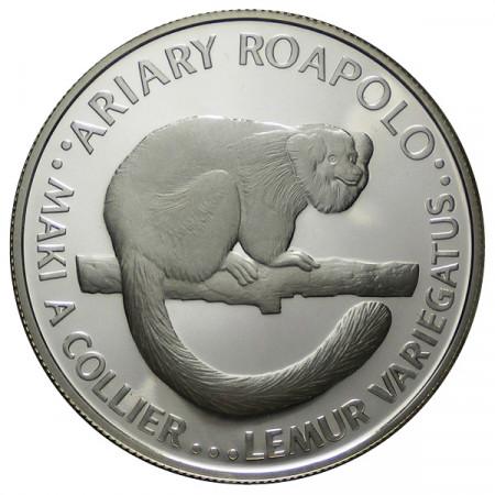"1988 * 20 Ariary Silver Madagascar ""25th Foundation WWF"" (KM 15) PROOF"
