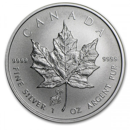 "2015 * 5 Silver Dollars 1 OZ Maple Leaf Canada ""Year of the Goat"" Privy Mark"