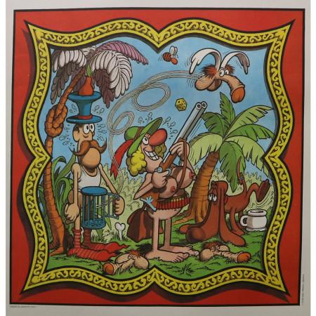 """1970 * Original Comic Book Table """"Club Anni '30 - Caccia - JACOVITTI"""""""