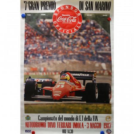 "1987 * Advertising Poster Original ""7° Gran Premio di San Marino Formula 1"""