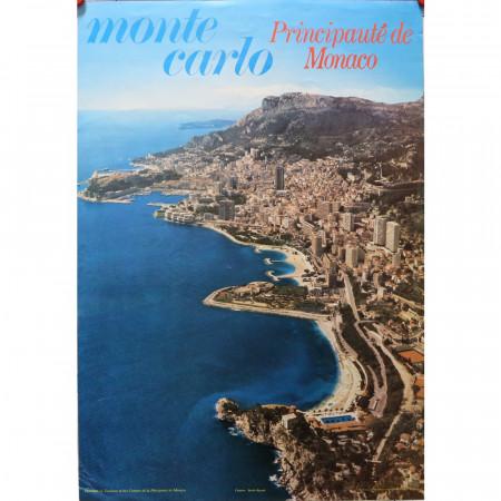 "1990 ca * Advertising Poster Original ""Monte Carlo - STUDIO BAZZONI"""