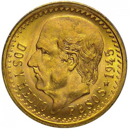 1945 * 2,5 pesos Mexico gold Miguel Hidalgo y Costilla