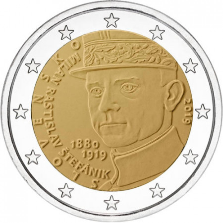 "2019 * 2 Euro SLOVAKIA ""100th Death of Milan Rastislav Štefánik"" UNC"