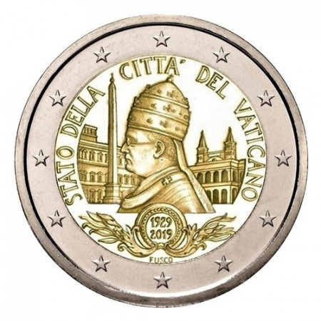 "2019 * 2 Euro VATICAN ""90th Foundation of the Vatican City State"" BU"