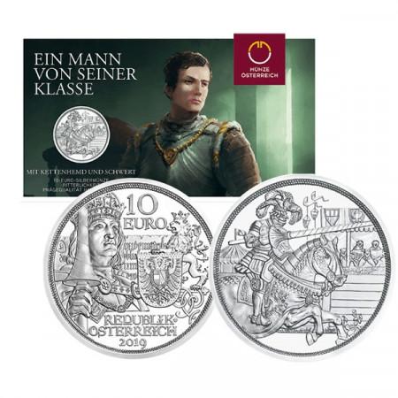 "2019 * 10 Euro Silver AUSTRIA ""Knights' Tales - CHIVALRY"" (1/5) BU"
