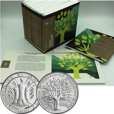 """2019 * SAN MARINO Official Euro Coin Set """"International Day Forests"""" BU"""