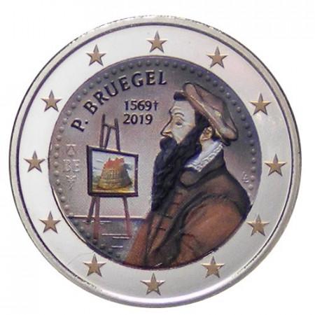"""2019 * 2 Euro BELGIUM """"450th Death of Pieter Bruegel the Elder"""" Colored"""