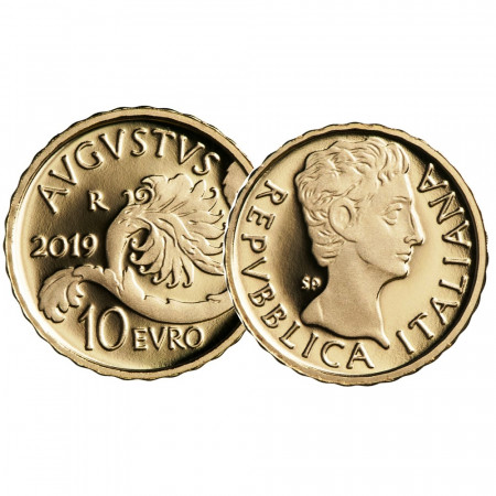"2019 * 10 Euro Gold ITALY ""Roman Emperors - Augustus"" PROOF"