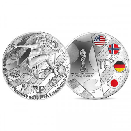 "2019 * 10 Euro FRANCE ""Fifa Women World Cup 2019 – Volley"" PROOF"