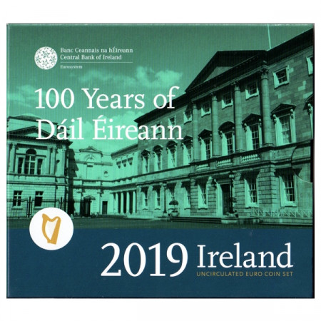 "2019 * IRELAND Official Euro Coin Set ""100th of the First Parliament of Ireland"" BU"