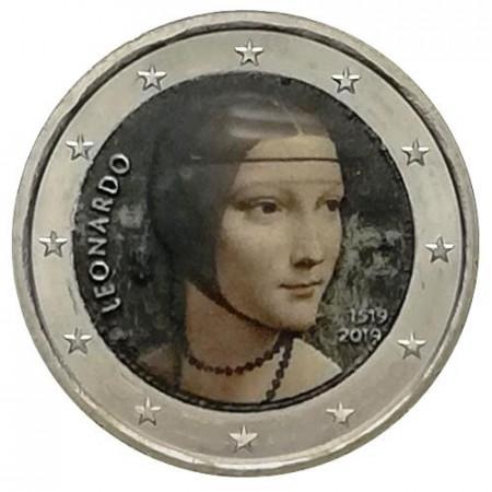"2019 * 2 Euro ITALY ""500 Years Death of Leonardo da Vinci"" Colored"