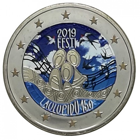 "2019 * 2 Euro ESTONIA ""150th First Estonian Song Festival"" Colored"