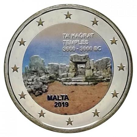 """2019 * 2 Euro MALTA """"Ta' Ħaġrat Megalithic Temple"""" Colored"""