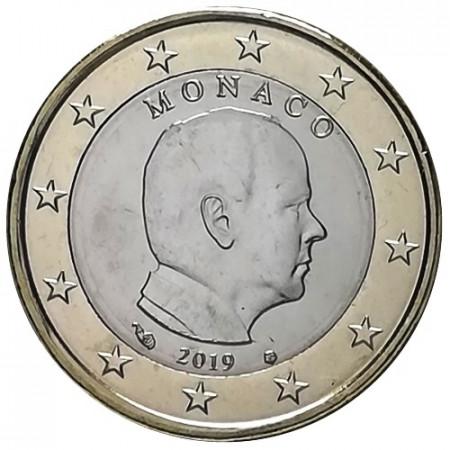 """2019 * 1 Euro MONACO """"Albert II"""" UNC"""