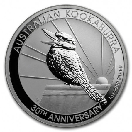 "2020 * 1 Dollar Silver 1 OZ Australia ""Kookaburra - 30th Anniversary"" BU"