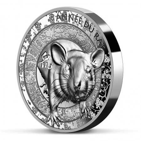 """2020 * 20 Euro 1 OZ High Relief FRANCE """"Year of the Rat """" PROOF"""