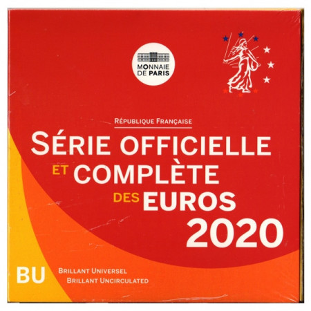 2020 * FRANCE Official Euro Coin Set BU