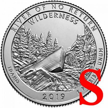 "2019 * Quarter Dollar (25 Cents) United States ""River of No Return - Idaho"" S UNC"