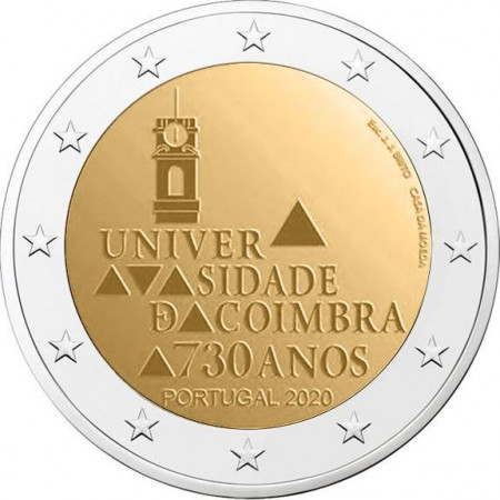 "2020 * 2 Euro PORTUGAL ""730 years since the foundation of the University of Coimbra"" UNC"
