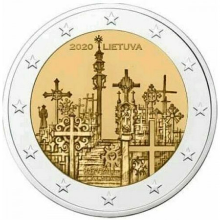 """2020 * 2 Euro LITHUANIA """"Hill of Crosses"""" UNC"""