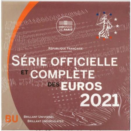 2021 * FRANCE Official Euro Coin Set BU