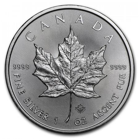 """2021 * 5 Dollars Silver 1 OZ Canada """"Maple Leaf"""" UNC"""