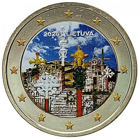 "2020 * 2 Euro LITHUANIA ""Hill of Crosses"" Colored"
